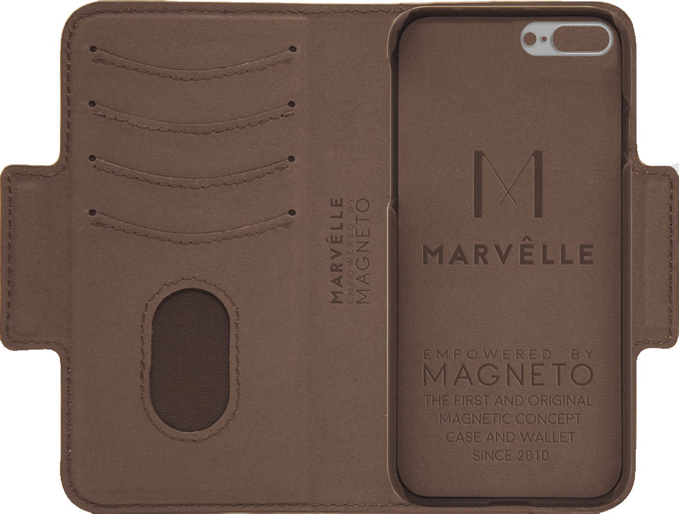 Чехол Marvelle N°307 для iPhone 7 Plus/8 Plus (Walnut Dark Brown Signature)
