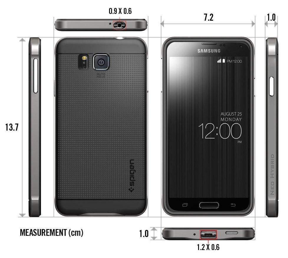 online store 8a686 4ca42 Купить spigen Neo Hybrid (SGP11095) - чехол для Samsung Galaxy Alpha ...