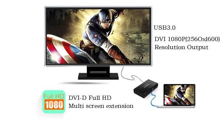 Orico DHU3A - видеоадаптер USB-HDMI/DVI (Black)