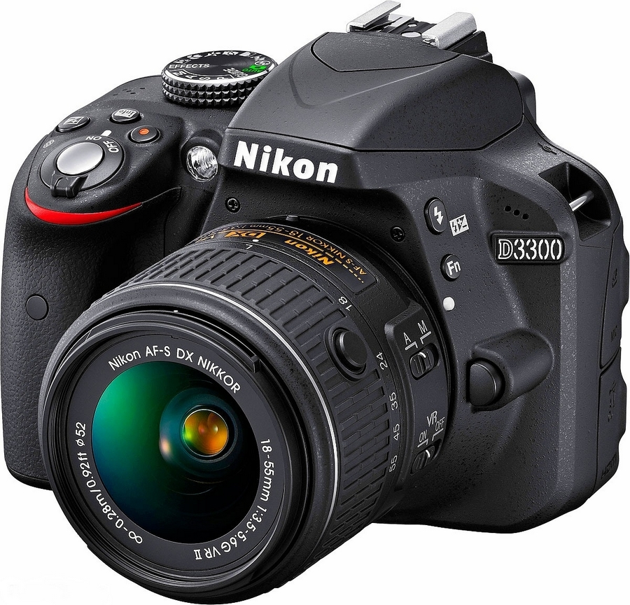 Nikon D3300 - зеркальный фотоаппарат (Black) + объектив 18-55mm VR II от iCover