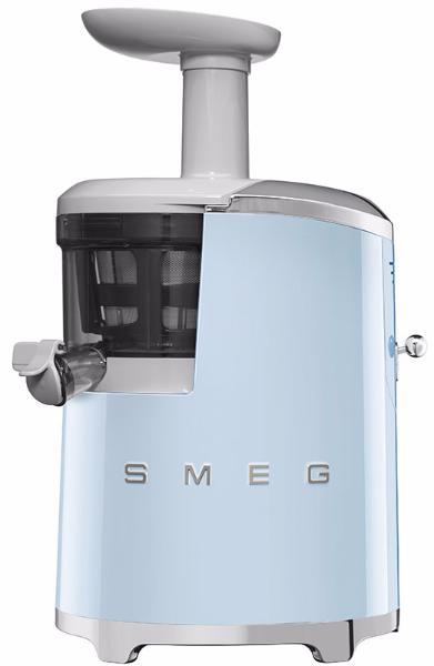 Smeg SJF01PBEU - шнековая соковыжималка (Pastel blue)  smeg klf02pgeu чайник электрический pastel green