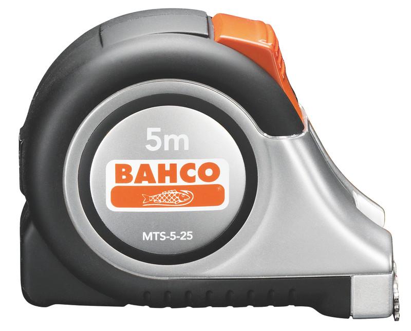 Рулетка Bahco 5 м MTS-5-25 (Black/Silver)  рулетка bahco mts 8 25