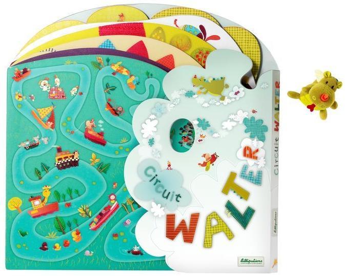 Книжка-лабиринт Lilliputiens Дракон Уолтер (86372)Развивающие игрушки<br>Книжка-лабиринт<br>