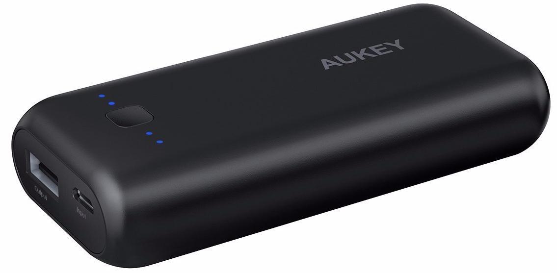 Внешний аккумулятор Aukey 5000 mAh PB-N41 (Black) аккумулятор digicare hydra dc8 8000 mah black yellow pb hdc8y