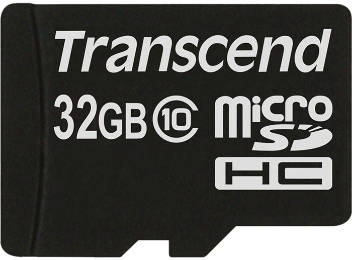 Transcend microSDHC Class 10 200x 32Gb (TS32GUSDC10) - карта памяти (Black) карта памяти каркам microsdhc 32gb class 10