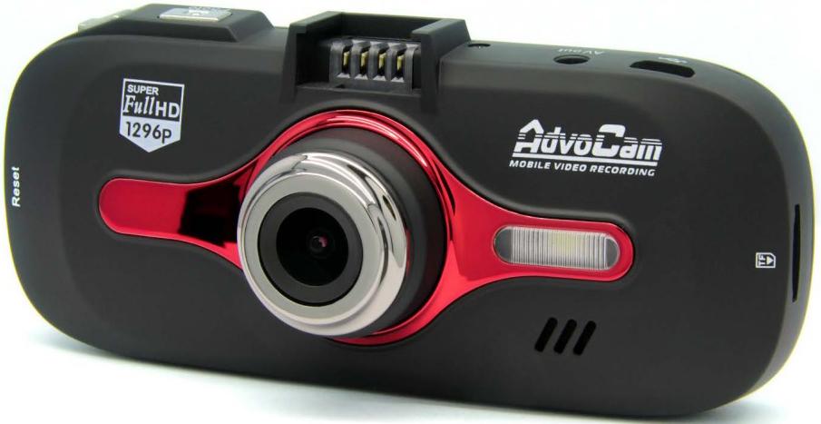 AdvoCam-FD8 Red-II - автомобильный видеорегистратор (Black/Red)
