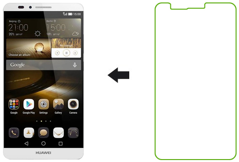Ainy AC-HB617 - защитная пленка для Huawei Ascend Mate7 (глянцевая)