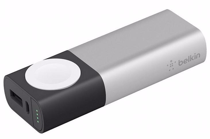 Зарядное устройство Belkin Valet Charger Power Pack 6700 mAh для Apple Watch/iPhone (Silver)