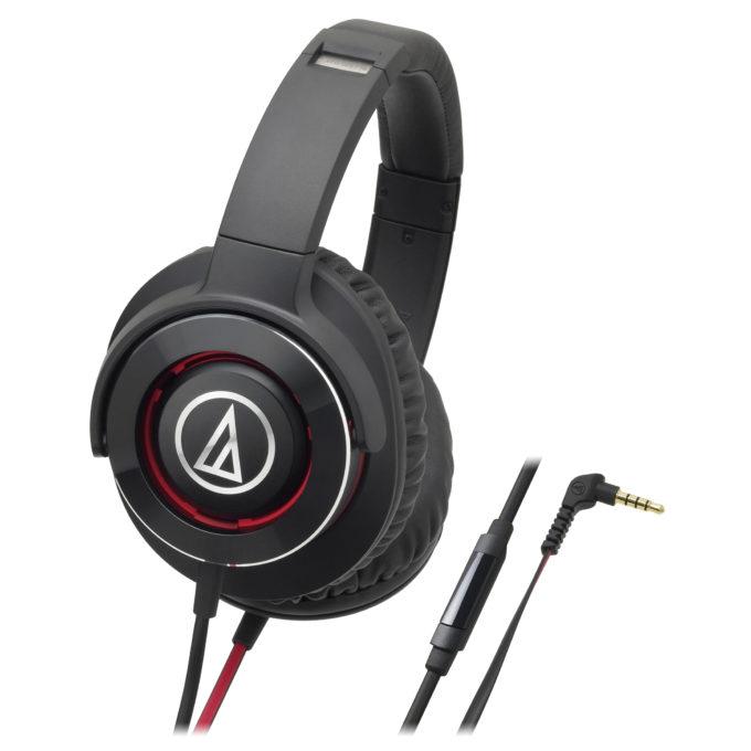 Audio-Technica ATH-WS770iS - мониторные наушники с микрофоном (Black Red)