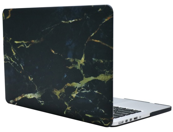 Чехол-накладка пластиковая i-Blason для Macbook Pro Retina 13 (Black/Gold Marble)Накладки для Macbook<br>Чехол-накладка<br>