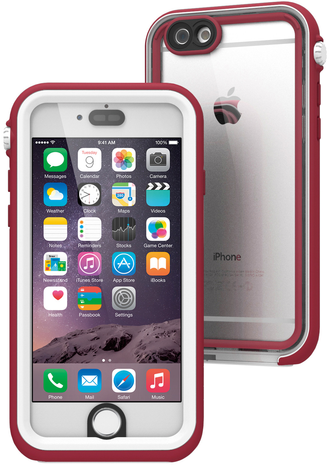 Catalyst Waterproof (CATIPHO6MAR) - водонепроницаемый чехол для iPhone 6 (Marsala/White)