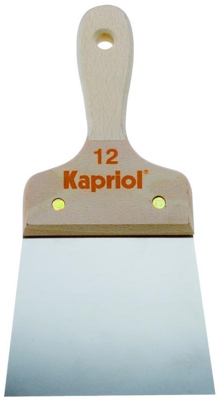 Kapriol 120 мм (23218) - полужесткий шпатель с деревянной ручкойШтукатурные инструменты<br>Полужесткий шпатель с деревянной ручкой<br>