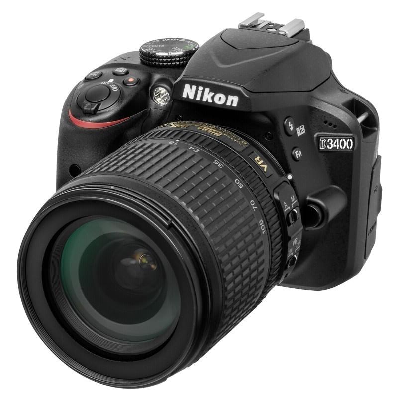 Nikon D3400 Kit 18-105 VR (VBA490K003) - цифровой зеркальный фотоаппарат (Black)