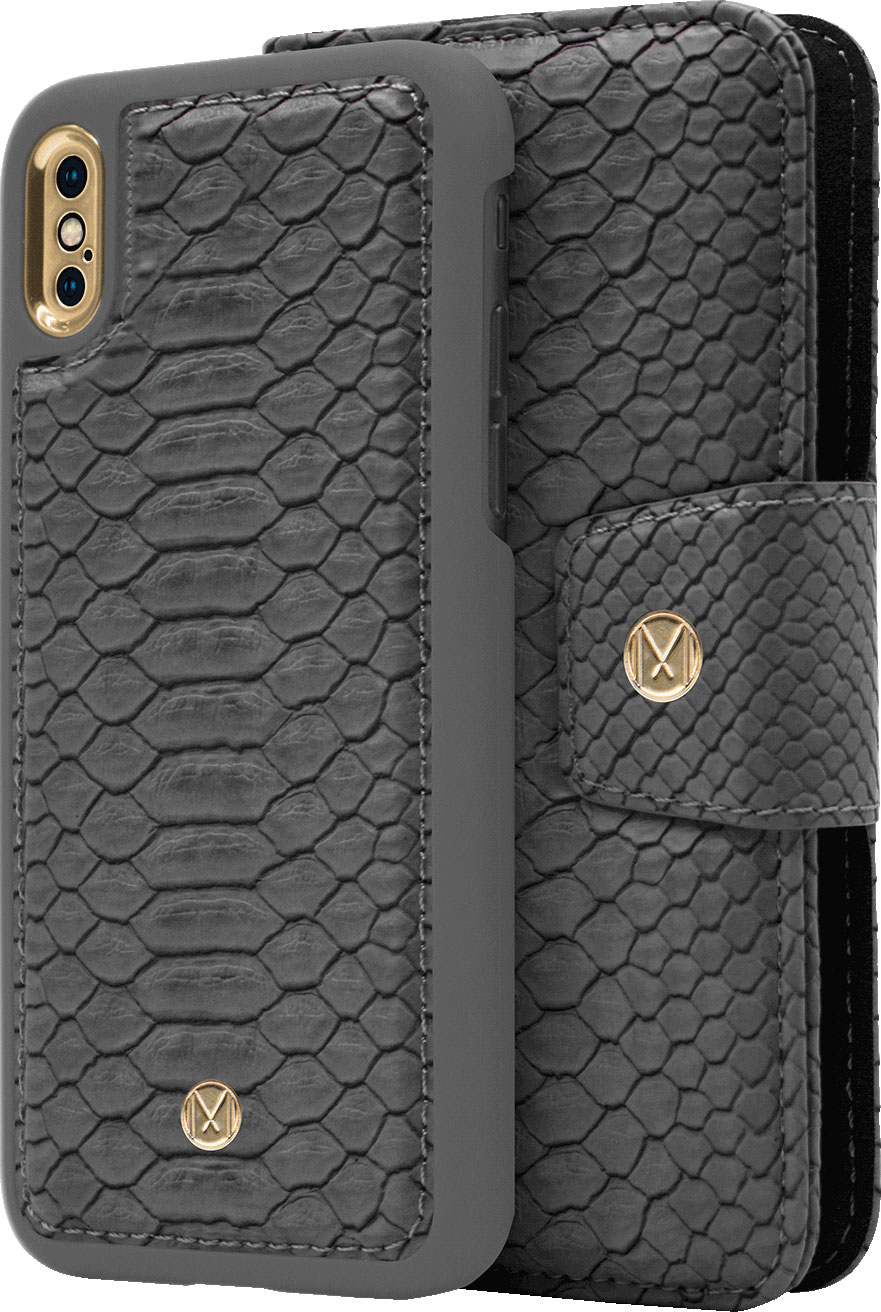 Чехол Marvelle N°301 для iPhone X/XS (Ash Grey Reptile)