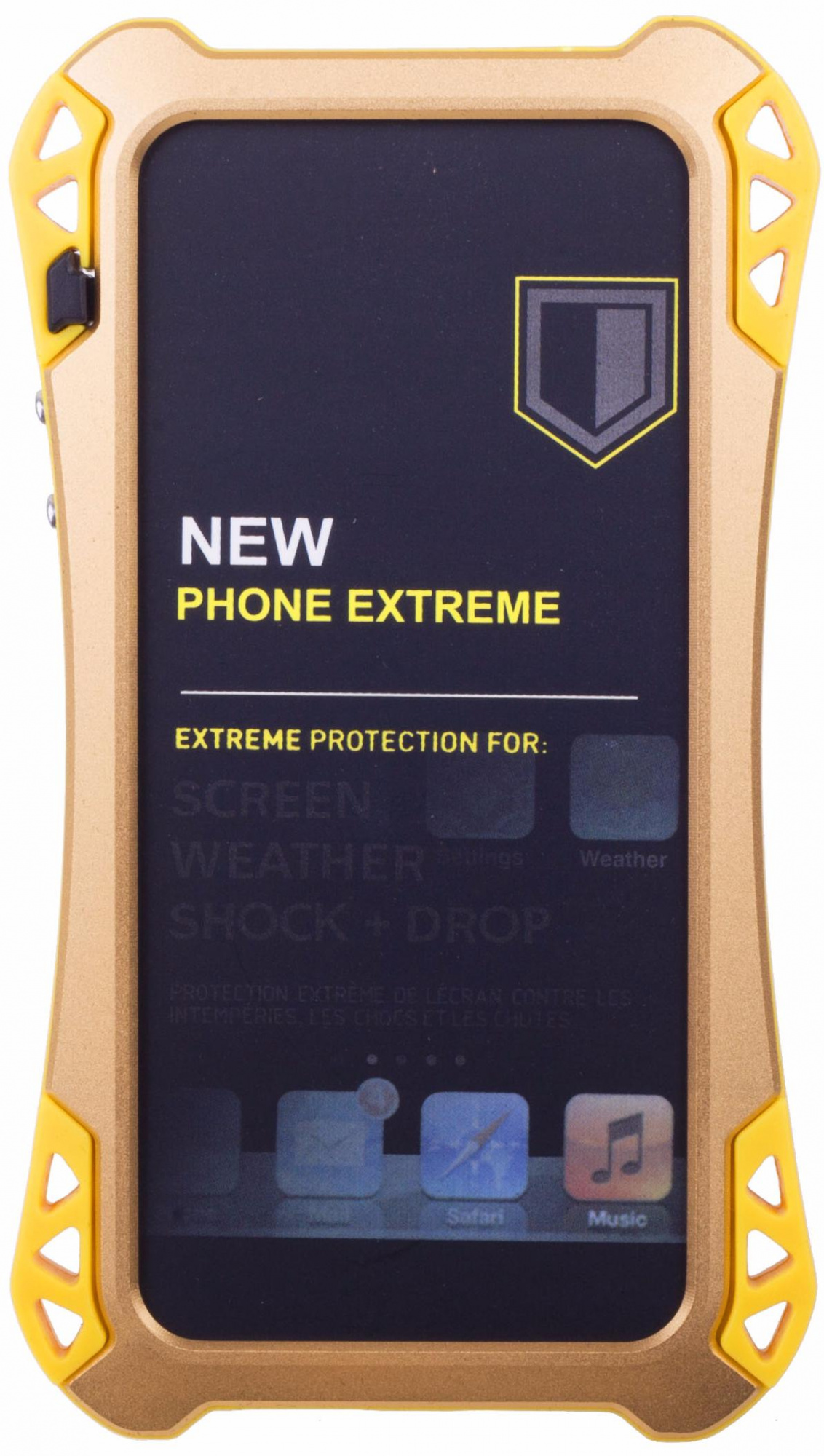 Amira Phone Extreme - защитный чехол для iPhone 5/5S/SE (Gold/Yellow)