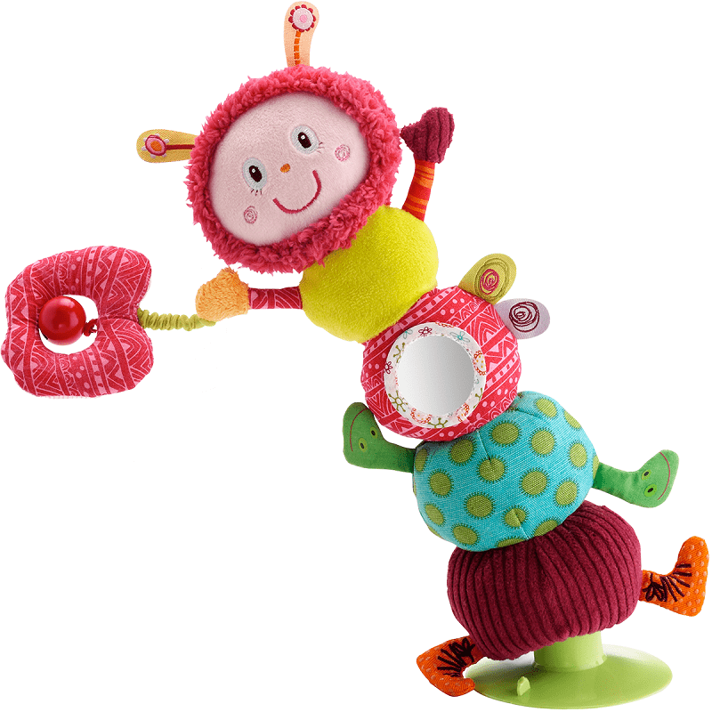 Lilliputiens Гусеница Джульетта: игрушка на присоске (86373)