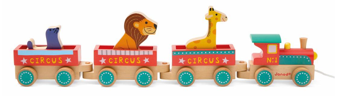 Поезд циркРазвивающие игрушки<br>Каталка на веревочке<br>