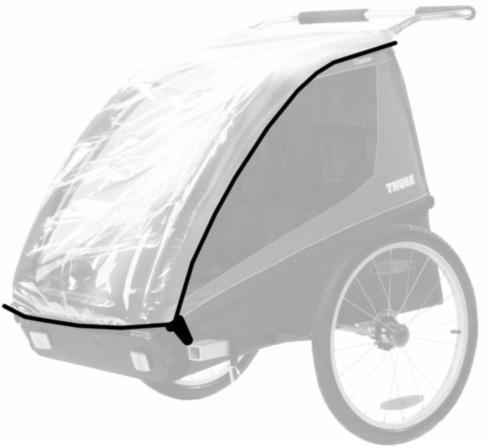 Thule Rain Cover (20110700) - дождевой чехол для коляски Thule Coaster 2