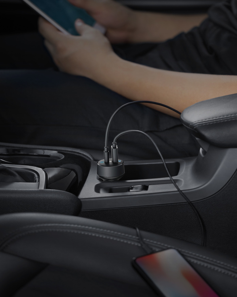 Автомобильное зарядное устройство Anker PowerDrive PD 2 A2720011 (Black)