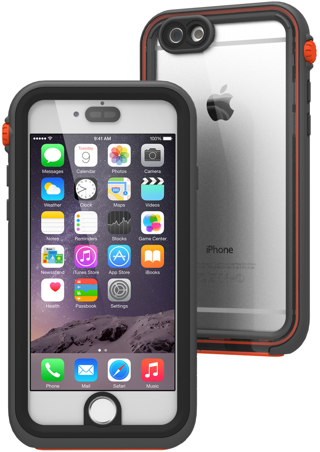 Catalyst Waterproof (CATIPHO6RES) - водонепроницаемый чехол для iPhone 6 и iPhone 6S (Black/Orange)