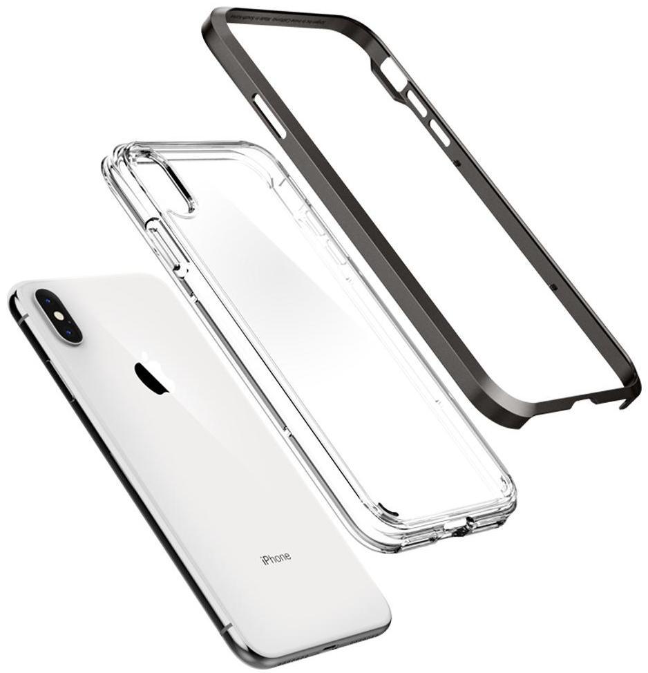 Чехол Spigen Neo Hybrid Crystal (065CS24844) для iPhone Xs Max (Gunmetal)