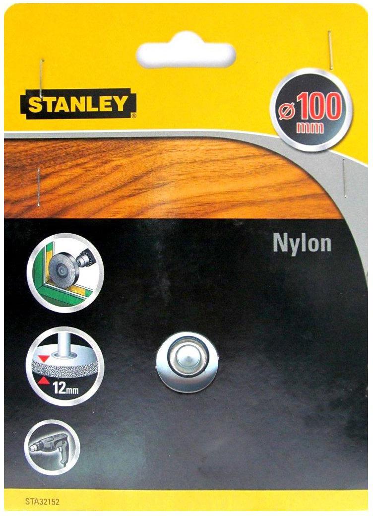 Stanley D 100 мм (32152-XJ) - щетка дисковая нейлоновая для дрели