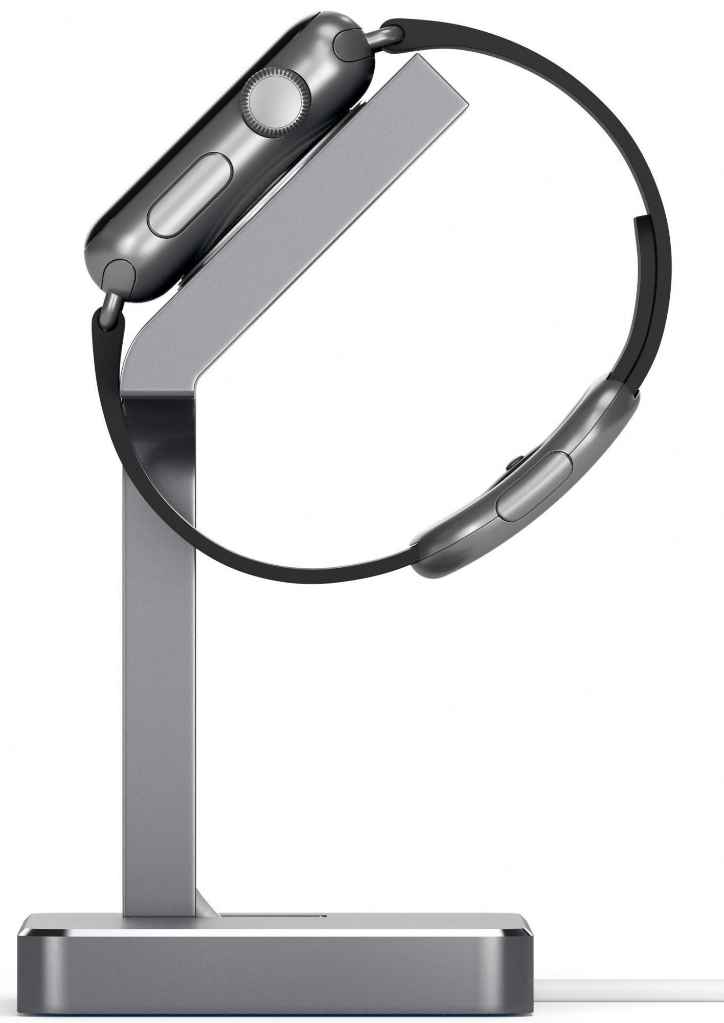Подставка Satechi Aluminum Apple Watch Charging Stand (ST-AWSM) для Apple Watch/Series 2/3 38/42mm (Space Grey)