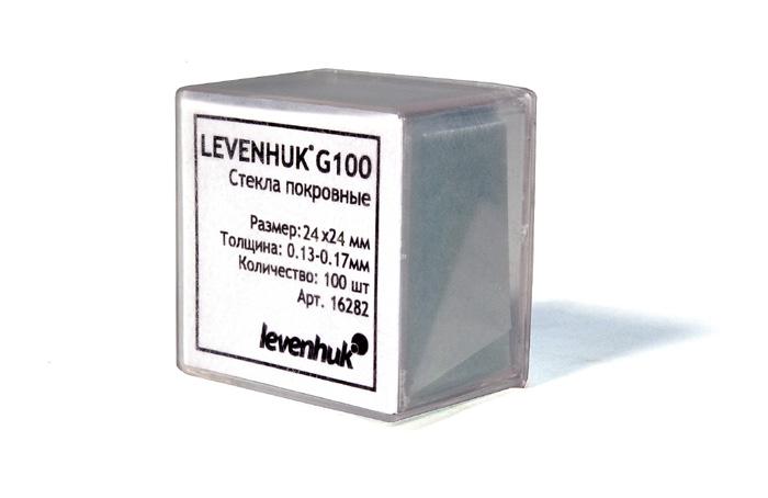 Levenhuk G100 (16282) - набор покровных стекол