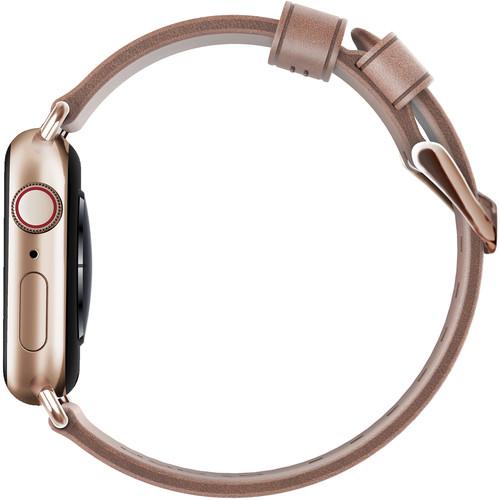 Ремешок Nomad Modern Strap (NM1A3NTM00) для Apple Watch Series 2/3/4 38/40 mm (Nude/Gold)