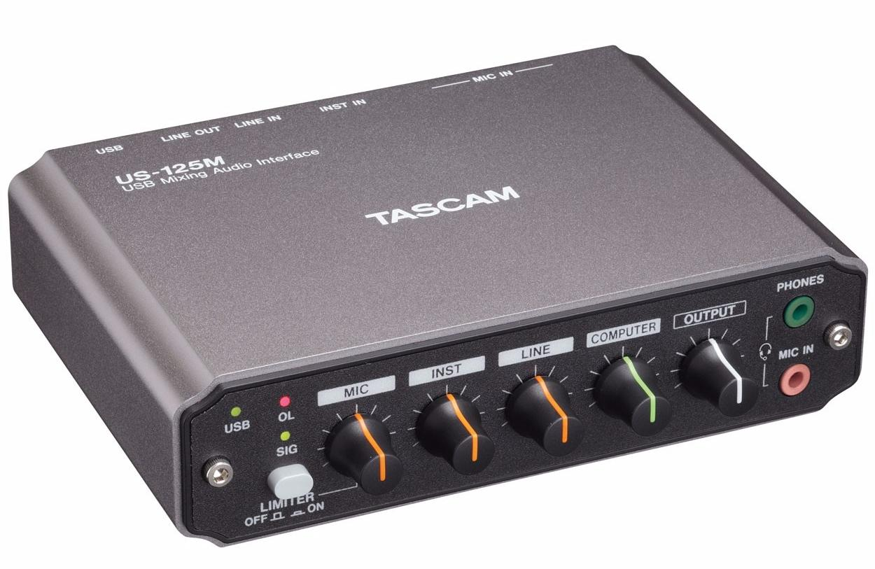 TASCAM US-125M 2.0 - аудиоинтерфейс (Black) от iCover