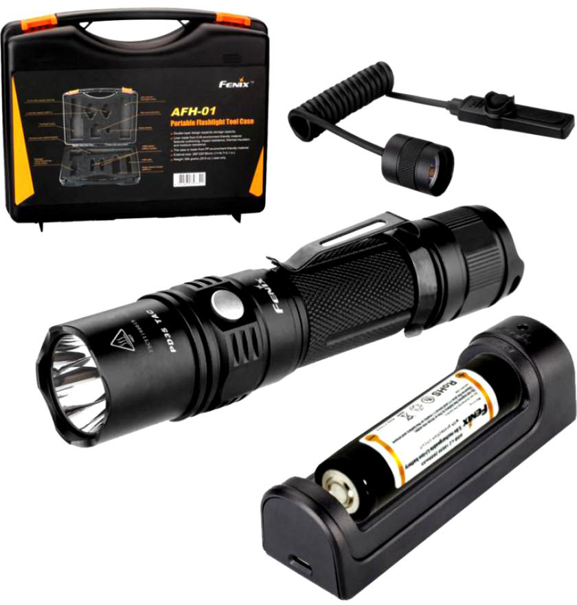 Такстический набор Fenix PD35 TAC + ARB-L2-2600 + ARE-X1 + AER-02 (PD35TACkit) fenix hl23 gold