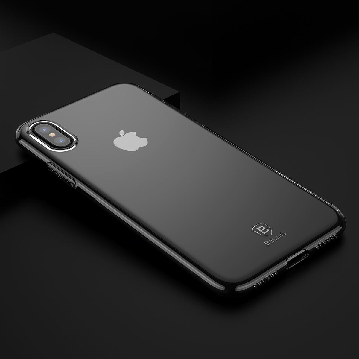 Чехол Baseus Simple Series Case (ARAPIPHX-B01) для Apple iPhone X (Transparent Black)