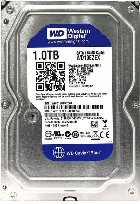 """Western Digital Blue HDD 3.5"""" 1Tb (WD10EZEX) - жесткий диск"""