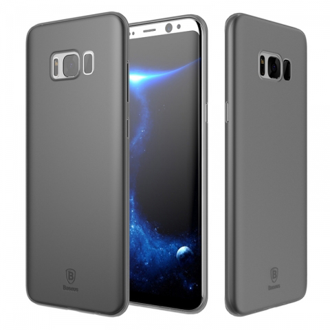Baseus Wing Case (wisas8-01) - чехол-накладка для Samsung Galaxy S8 (Transparen Black)