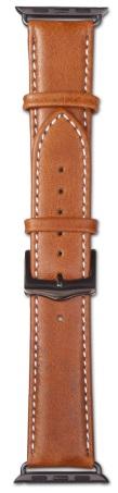 Ремешок Dbramante1928 Copenhagen Watch Strap (AW38GTSG0633) для Apple Watch 38mm (Space Grey/Tan)
