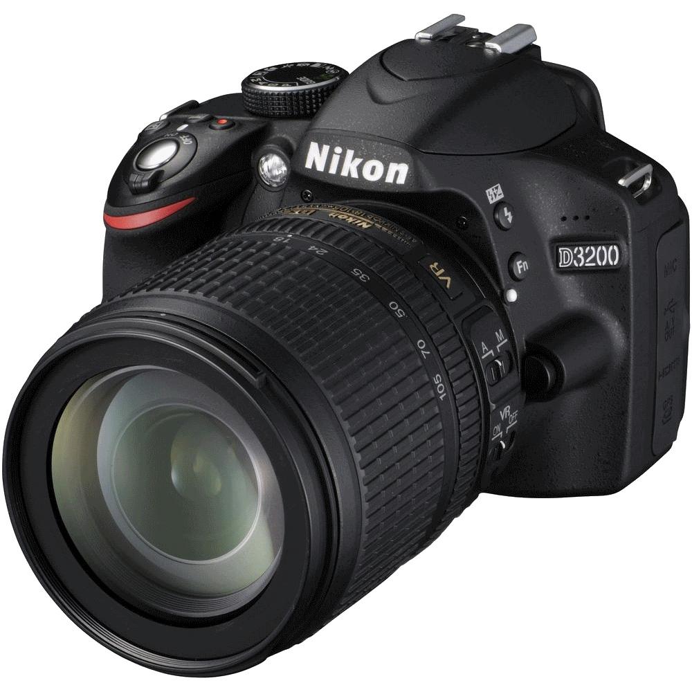 Nikon D3200 - зеркальный фотоаппарат (Black) + объектив AF-S DX NIKKOR 18-105mm f/3.5-5.6G ED VR от iCover