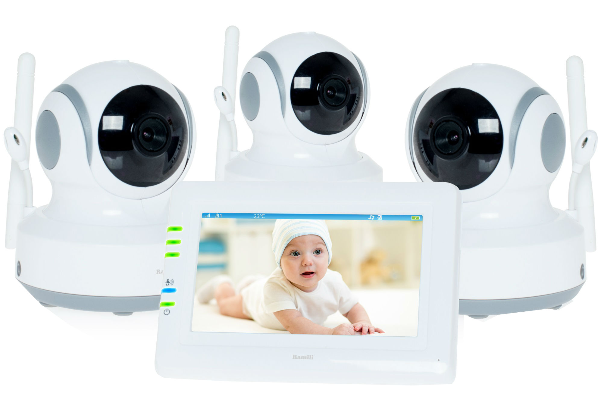 Ramili Baby Video Baby Monitor RV900X3