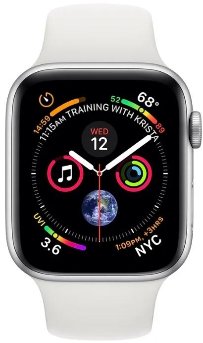 Умные часы Apple Watch Series 4 44 mm (Silver/White)