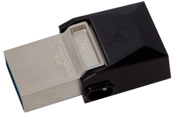 Внешний накопитель Kingston DataTraveler microDuo 3.0 USB 3.1/MicroUSB 32Gb DTDUO3/32GB (Black)