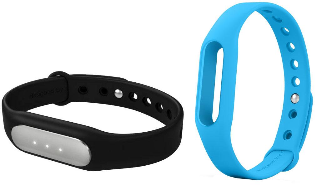 Купить Xiaomi Mi Band - фитнес-браслет + сменный ремешок (Black/Blue)