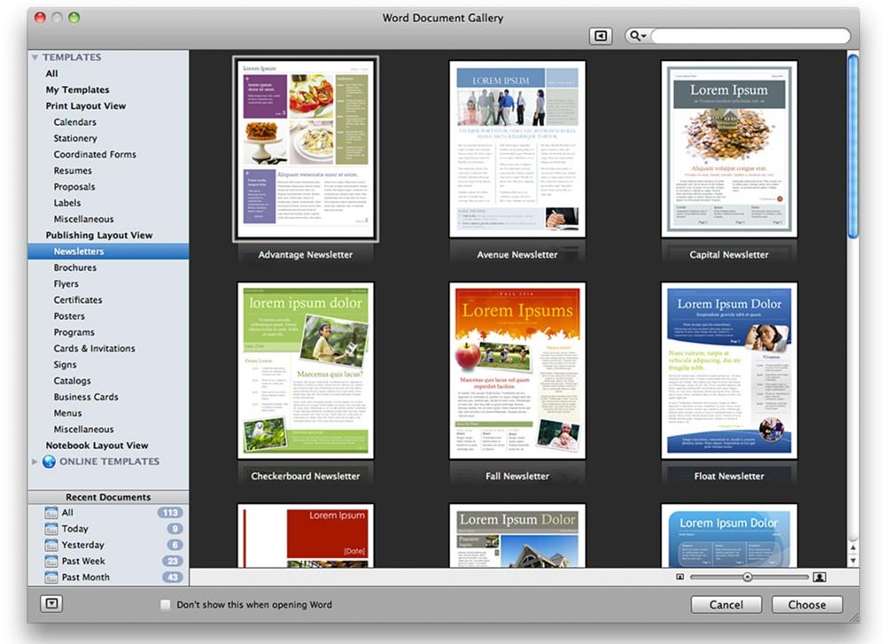 Microsoft Office для Mac для дома и бизнеса 2011