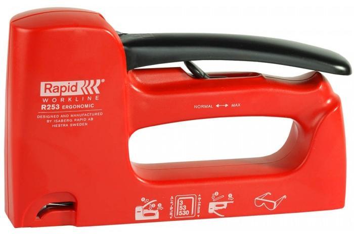 Rapid R253 WORKLINE RUS (5000062) - степлер ручной (Red)Степлеры и скобы<br>Степлер ручной<br>