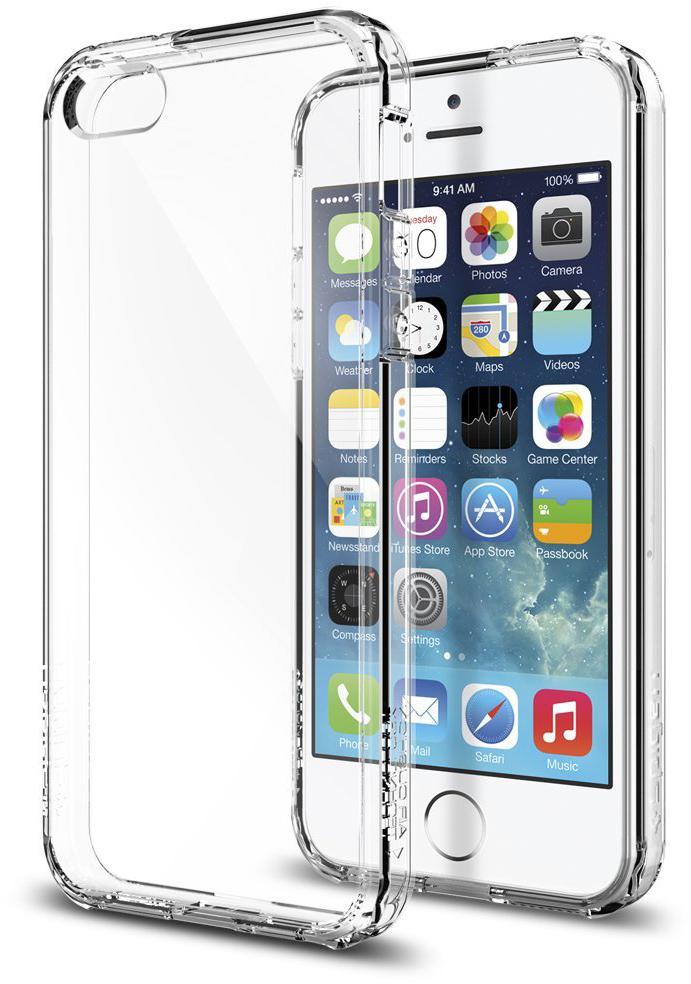 Spigen Ultra Hybrid (SGP10640) - чехол для iPhone 5/5S/SE (Crystal Clear) стоимость