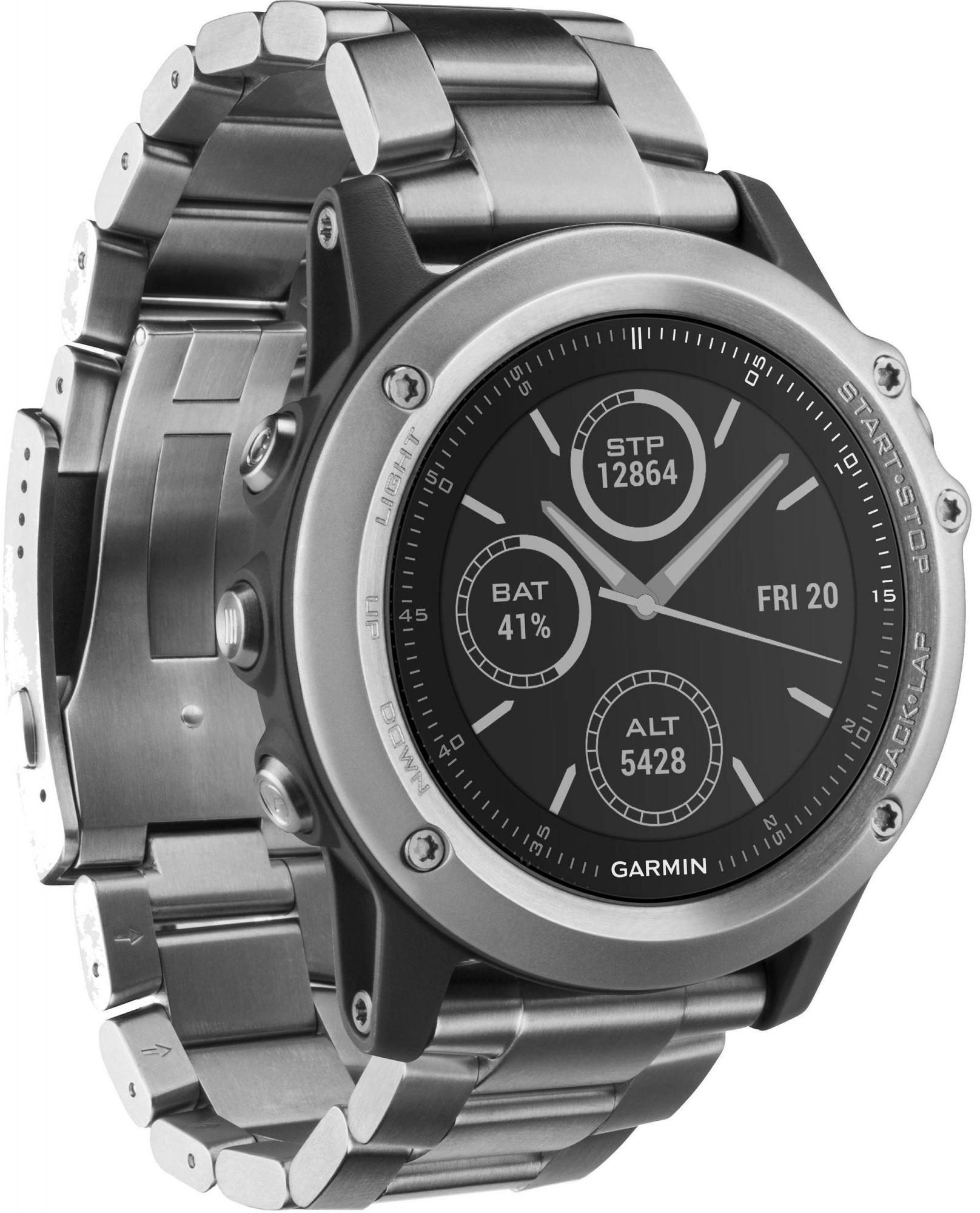 Спортивные часы Garmin Fenix 3 HR 010-01338-79 (Silver/Titanium)