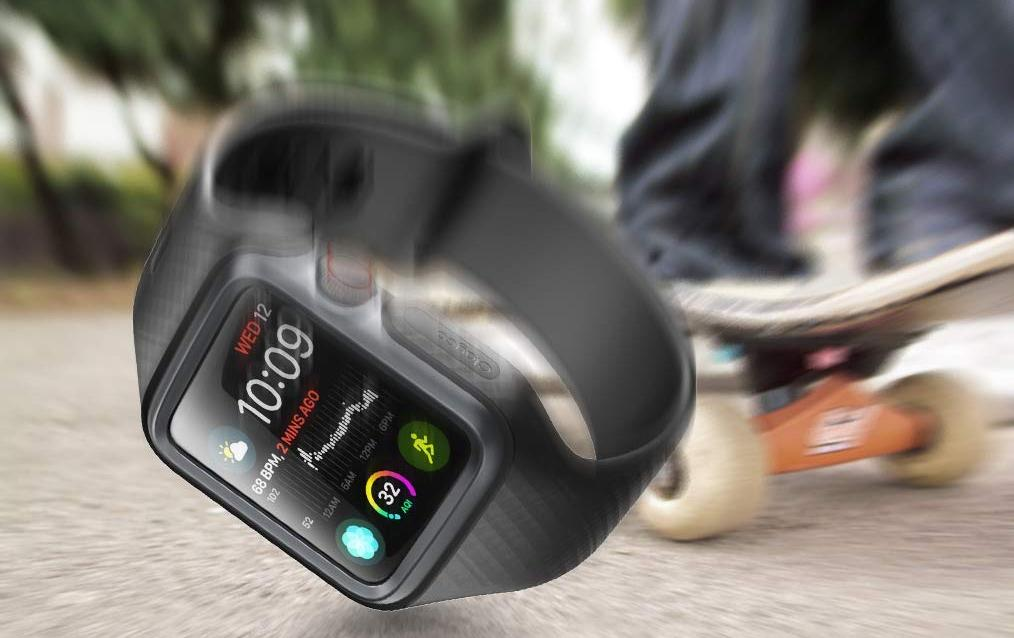 Чехол-ремешок Clayco Hera Series для Apple Watch Series 4 44mm (Black)