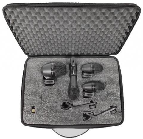 Shure PGADRUMKIT4 (A058950) - набор микрофонов для ударных (Black)