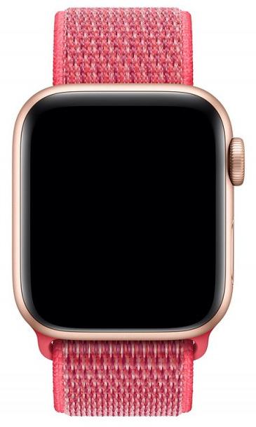 Ремешок COTEetCI W17 Magic Tape (WH5225-MF) для Apple Watch Series 2/3/4 38/40mm (Hibiscus)