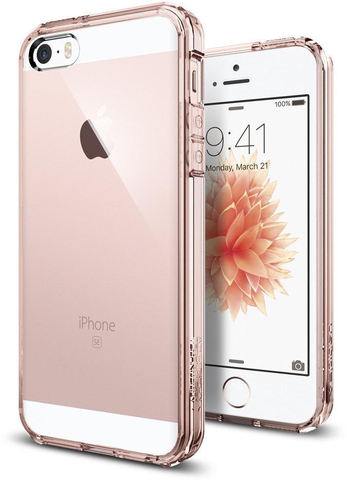 Spigen Ultra Hybrid (041CS20172) - чехол для iPhone 5/5S/SE (Rose Crystal)
