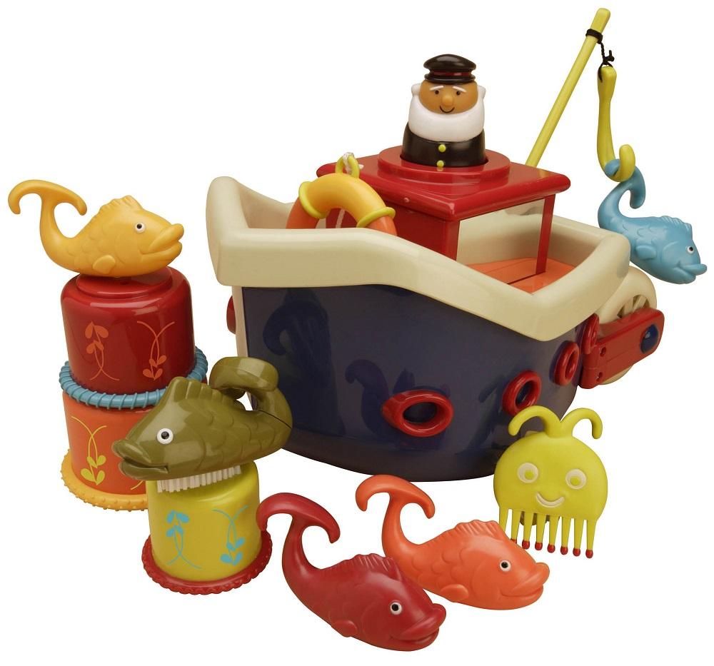 Battat B. Dot 68607 - кораблик с игрушками для ванны (Blue)