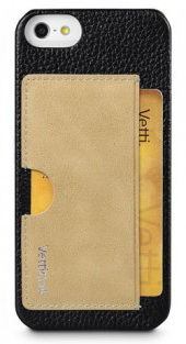 Vetti Prestige Series Leather Snap Card Holder (IPO5LESCHBKLC4) - чехол для iPhone 5/5S/SE (Black/Vintage Khaki)